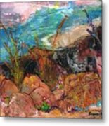 The Edge Of The Cliff Metal Print