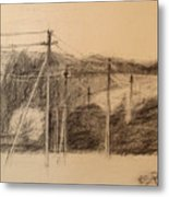 The Edge Of The Village Metal Print