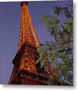 The Eiffel Tower Aglow Metal Print