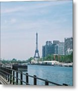 The Eiffel Tower And The Seine River Metal Print