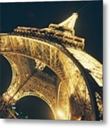 The Eiffel Tower By Night Metal Print