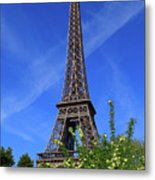 The Eiffel Tower In Spring Metal Print