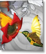 The Electric Hummingbird Metal Print