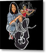 The Electric Violinist Metal Print