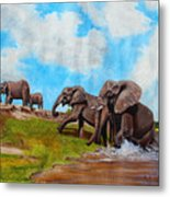 The Elephants Rise Metal Print