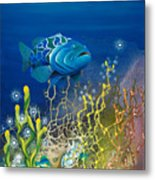 The Emerald Grouper Metal Print