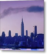 The Empire State Building In New York At 6 A. M. In January Metal Print