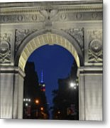 The Empire State Building Through The Washington Square Arch Metal Print