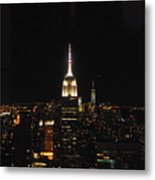 The Empire States At Night Metal Print