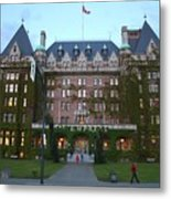 The Empress Hotel Metal Print