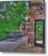 The Empty Cafe Metal Print