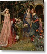 The Enchanted Garden Metal Print by John William Waterhouse