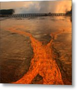 The Enchantment Of Grand Prismatic Spring Metal Print