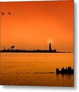 The End Of A Wonderful Day. Metal Print