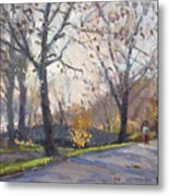 The End Of Fall At Three Sisters Islands Metal Print