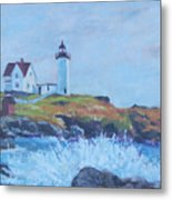 The End Of Summer- Cape Neddick Maine Metal Print