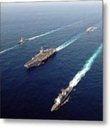 The Enterprise Carrier Strike Group Metal Print by Stocktrek Images