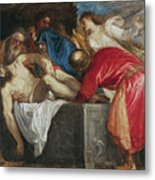 The Entombment Of Christ Metal Print by Titian