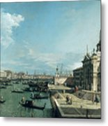 The Entrance To The Grand Canal And The Church Of Santa Maria Della Salute Metal Print