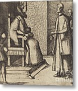 The Envoy Of Tuscany Thanking The Queen [verso] Metal Print
