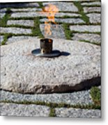 The Eternal Flame At President John F. Kennedy's Grave Metal Print