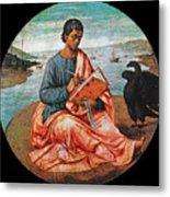 The Evangelist John At Patmos Metal Print