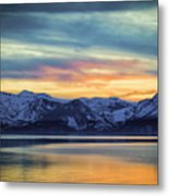 The Evening Colors Metal Print