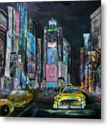 The Evening Of Time Square Metal Print
