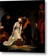 The Execution Of Lady Jane Grey In The Tower Of London In The Year 1554 Metal Print