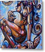 The Expecting Muse Metal Print