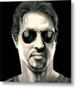 The Expendables Barney Ross Metal Print