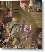 The Expulsion Of Heliodorus Metal Print