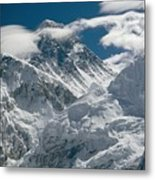 The Extreme Terrain Of Mount Everest Metal Print
