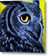 The Eye Of The Owl -the  Goobe Series Metal Print