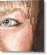The Eyes Have It - Shelly Metal Print