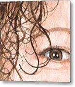 The Eyes Have It - Stacia Metal Print