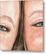 The Eyes Have It- K And K Metal Print