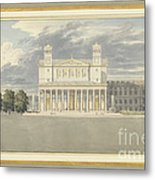 The Fa?ade And Suroundings Of A Cathedral For Berlin Metal Print