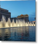 The Fabulous Fountains At Bellagio - Las Vegas Metal Print
