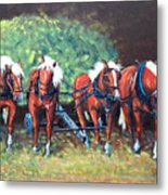 The Fabulous Four Metal Print by Jean Ann Curry Hess