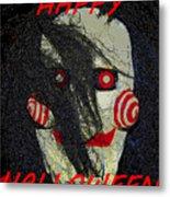 The Face Halloween Card Metal Print