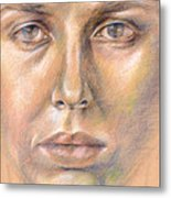 The Face In The Miror Metal Print