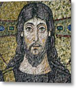 The Face Of Christ Metal Print by Byzantine School