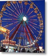 The Fair At Night Metal Print