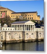 The Fairmount Water Works And Art Museum Metal Print