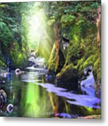 The Fairy Glen Gorge River Conwy Metal Print
