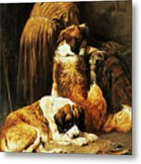 The Faith Of Saint Bernard Metal Print