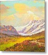 The Fall Colors Of Alaska Route 8 No.3 Metal Print