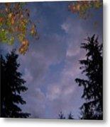 The Fall Evening Sky Metal Print