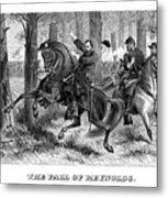The Fall Of Reynolds - Civil War Metal Print